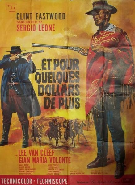 affiche cinéma Et pour quelques dollars de plus, Affiches anciennes (cinéma, theâtre, publicitaire), Image | Puces Privées
