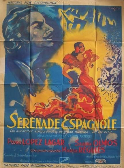 affiche cinéma Sérénade Espagnole, Affiches anciennes (cinéma, theâtre, publicitaire), Image   Puces Privées