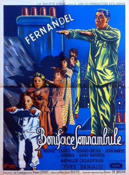 affiche cinéma Boniface somnanbule, Affiches anciennes (cinéma, theâtre, publicitaire), Image | Puces Privées