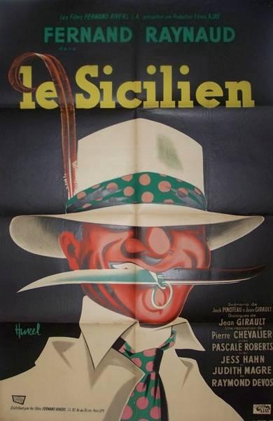 affiche cinéma le sicilien, Affiches anciennes (cinéma, theâtre, publicitaire), Image | Puces Privées