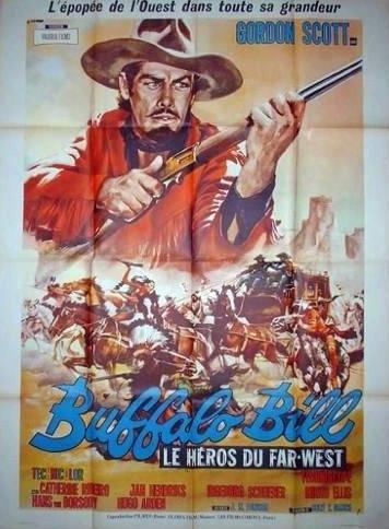 affiche cinéma Buffalo Bill, Affiches anciennes (cinéma, theâtre, publicitaire), Image | Puces Privées