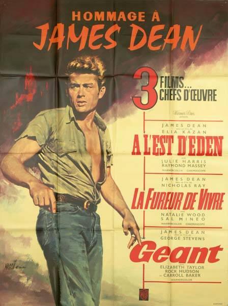 affiche cinéma Hommage à James Dean, Affiches anciennes (cinéma, theâtre, publicitaire), Image   Puces Privées