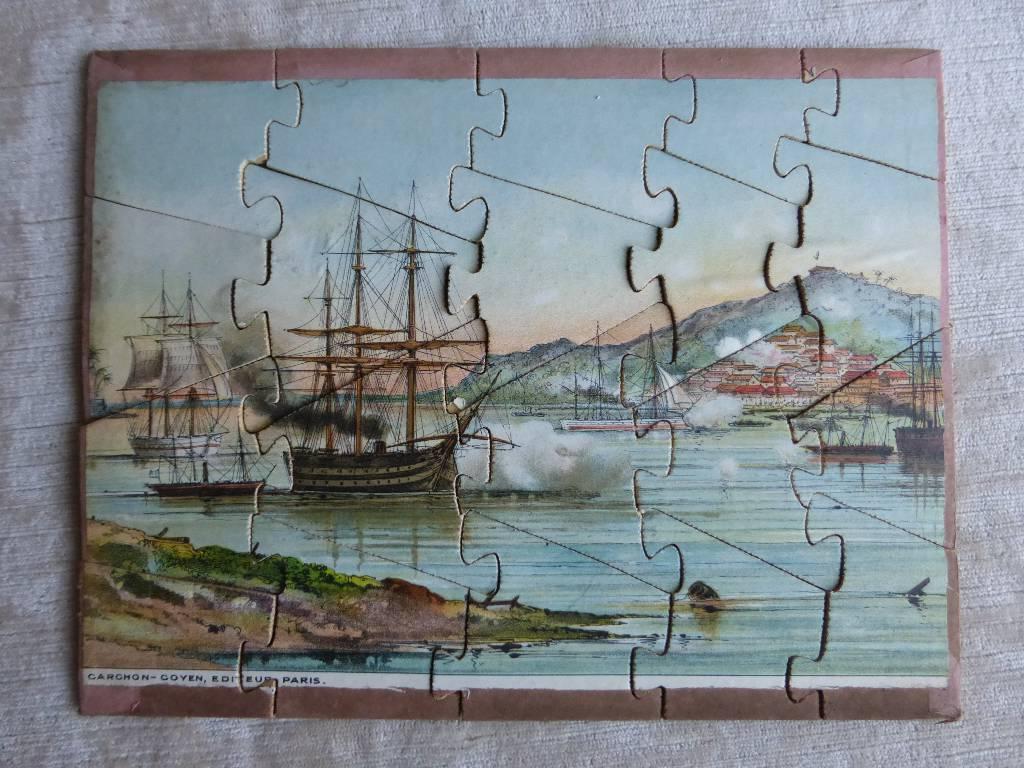 No - 105 -  Puzzle - Bateaux à voiles au port  ., Puzzle, Jeux anciens   Puces Privées