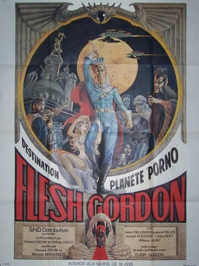 affiche cinéma Flesh Gordon, Affiches anciennes (cinéma, theâtre, publicitaire), Image   Puces Privées