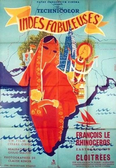 affiche cinéma Les indes fabouleuses, Affiches anciennes (cinéma, theâtre, publicitaire), Image | Puces Privées