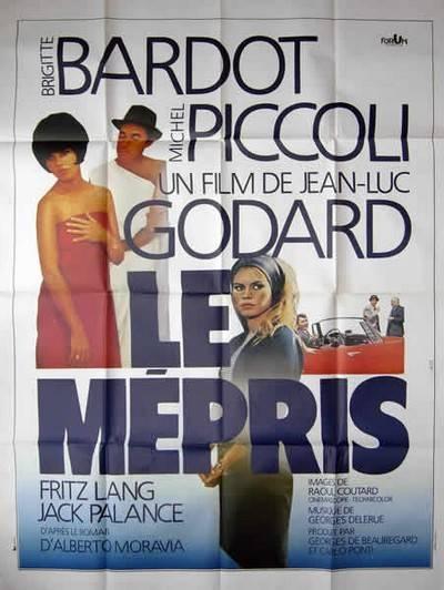affiche cinéma Le mépris, Affiches anciennes (cinéma, theâtre, publicitaire), Image | Puces Privées