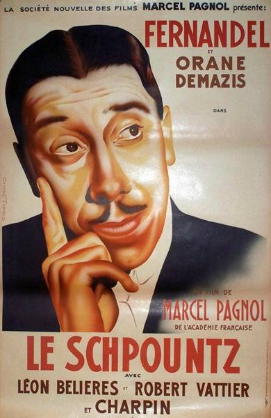 affiche cinéma Le schpountz, Affiches anciennes (cinéma, theâtre, publicitaire), Image | Puces Privées