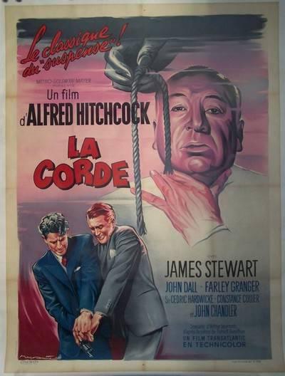 affiche cinéma La corde, Affiches anciennes (cinéma, theâtre, publicitaire), Image | Puces Privées