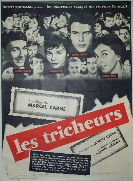 affiche cinéma Les tricheurs, Affiches anciennes (cinéma, theâtre, publicitaire), Image | Puces Privées