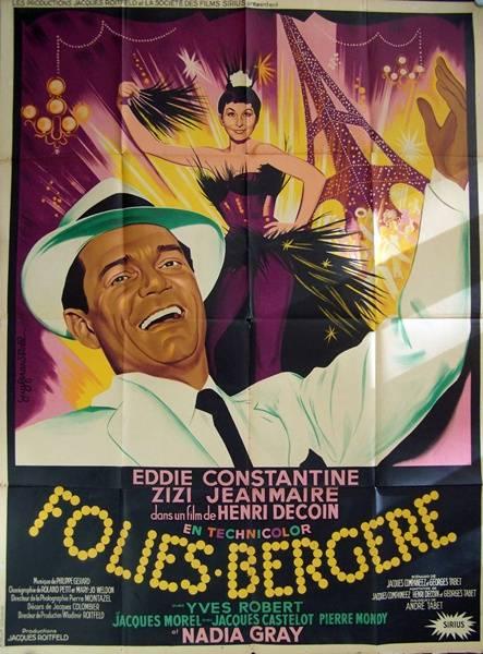 affiche cinéma Folies bergère, Affiches anciennes (cinéma, theâtre, publicitaire), Image | Puces Privées