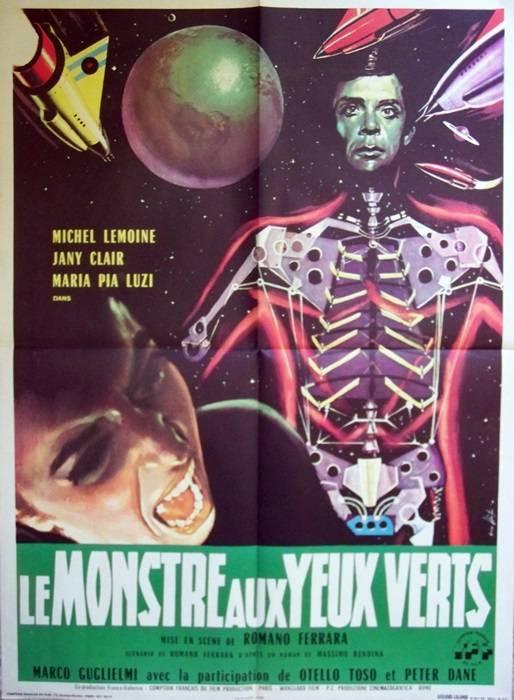 affiche cinéma Le monstre aux yeux vert, Affiches anciennes (cinéma, theâtre, publicitaire), Image   Puces Privées
