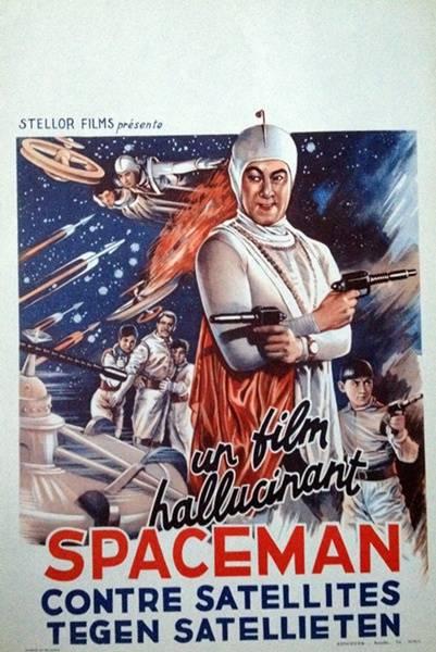 affiche cinéma Spaceman contre satéllites, Affiches anciennes (cinéma, theâtre, publicitaire), Image | Puces Privées
