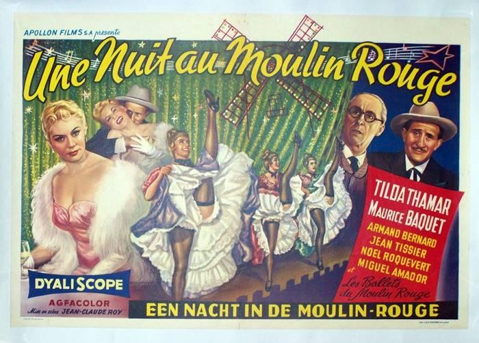 affiche Une nuit au moulin rouge, Affiches anciennes (cinéma, theâtre, publicitaire), Image | Puces Privées