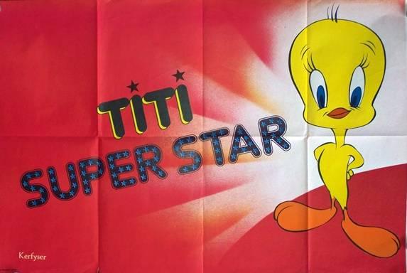 affiche cinéma Titi super star, Affiches anciennes (cinéma, theâtre, publicitaire), Image   Puces Privées