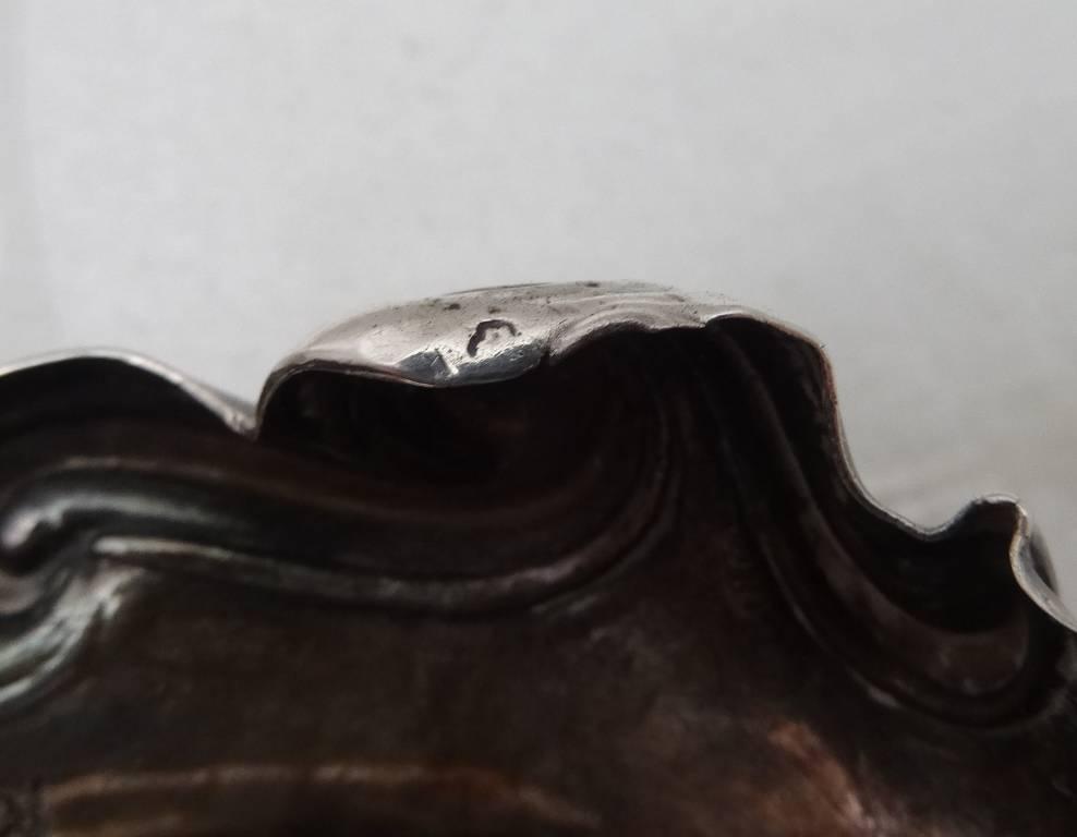 Paire de salières en argent XVIIIeme MICALLEF Alexis, Argenterie - Orfèvrerie, Argenterie - Orfèvrerie   Puces Privées