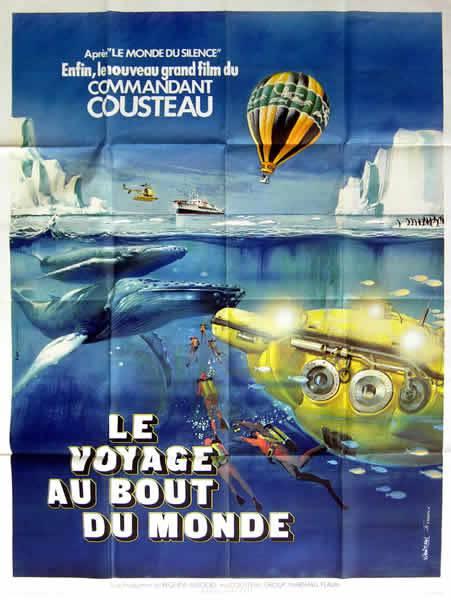 affiche cinéma Voyage Au bout du monde, Affiches anciennes (cinéma, theâtre, publicitaire), Image   Puces Privées