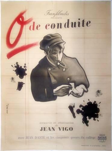 affiche cinéma Zéro de conduite, Affiches anciennes (cinéma, theâtre, publicitaire), Image | Puces Privées