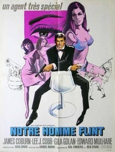 affiche cinéma Notre homme flint, Affiches anciennes (cinéma, theâtre, publicitaire), Image | Puces Privées