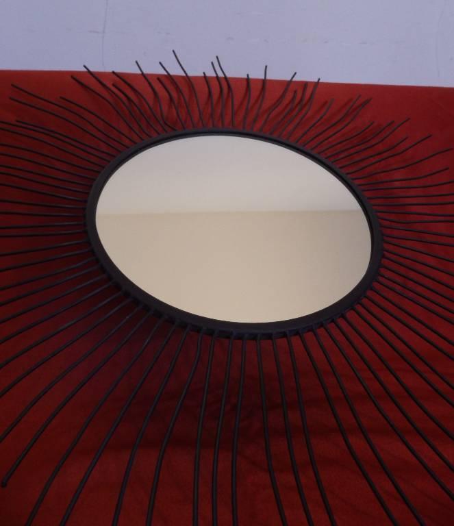 Miroir Soleil en fer, Métal, Miroir ancien | Puces Privées