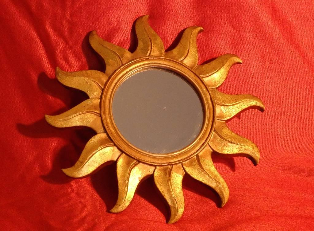 Miroir Soleil, Autres, Miroir ancien   Puces Privées