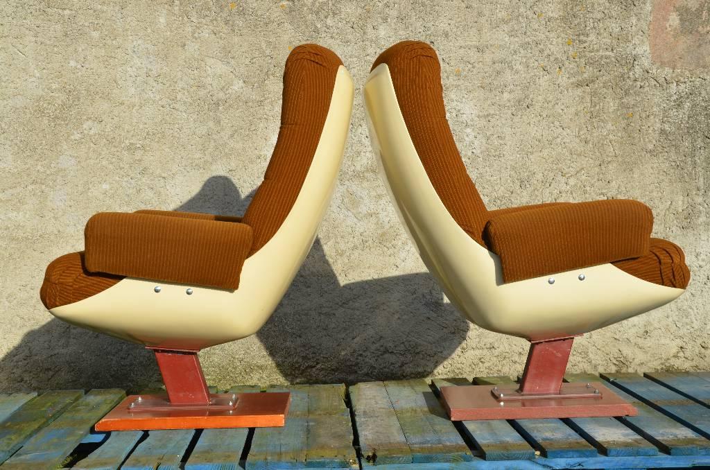 Paire de fauteuils cinéma vintage 60-70, Fauteuils, Sièges   Puces Privées