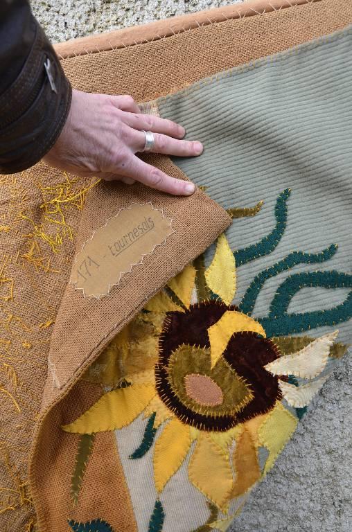 Tapisserie art déco les tournesols, Tapisseries, Tapis et tissages  | Puces Privées