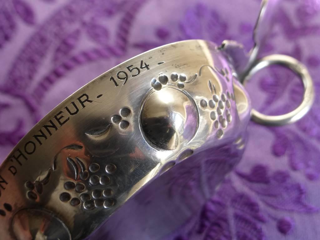 No - 128 -  Taste -vin en argent poinçon Minerve poids 42 gr, Argenterie - Orfèvrerie, Argenterie - Orfèvrerie | Puces Privées