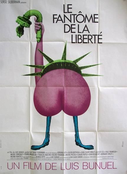 affiche cinéma Le fantôme de la liberté, Affiches anciennes (cinéma, theâtre, publicitaire), Image | Puces Privées