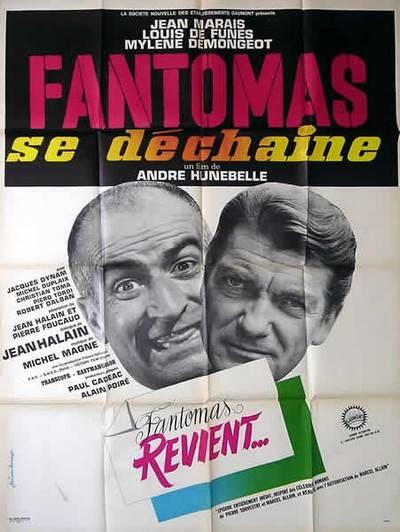 affiche cinéma Fantomas se déchaine, Affiches anciennes (cinéma, theâtre, publicitaire), Image | Puces Privées