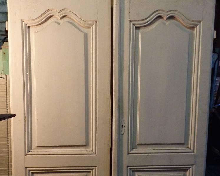 Paire de portes anciennes, Boiseries, portes, volets, Eléments d'architecture | Puces Privées