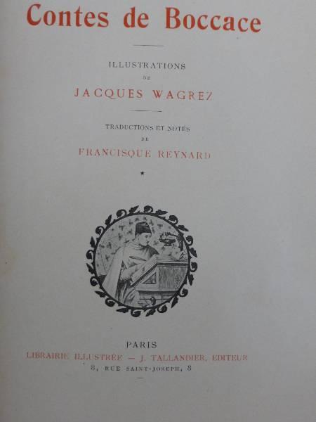 No 135 -  Contes de Boccace en trois tomes, Romans, Livres | Puces Privées