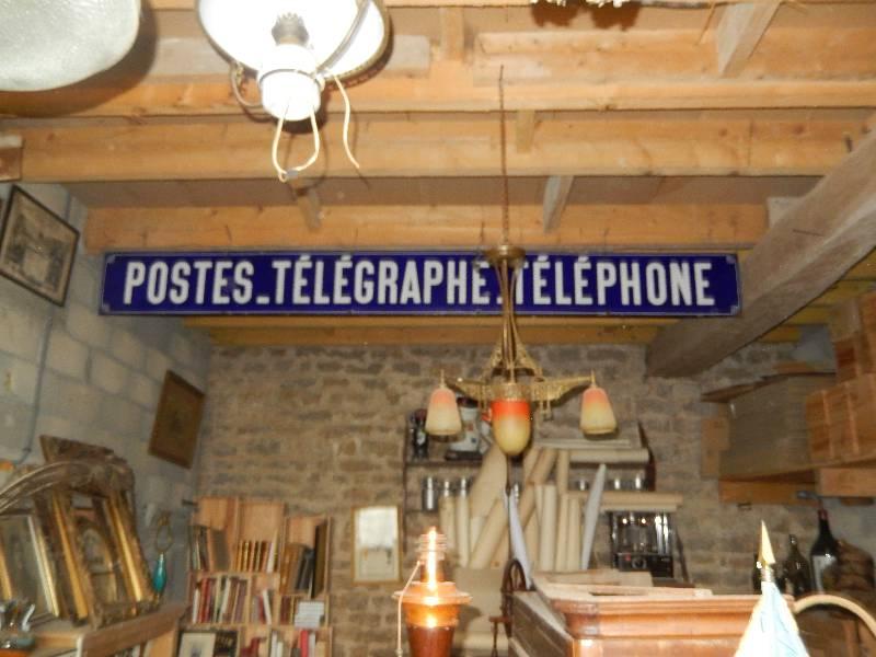 plaque émaillé postes télégraphe téléphone big modele, Autres, Eléments d'architecture | Puces Privées