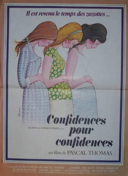 affiche cinéma Confidences pour confidences, Affiches anciennes (cinéma, theâtre, publicitaire), Image | Puces Privées