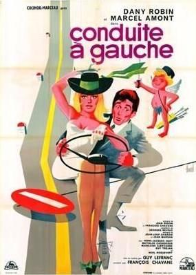 affiche cinéma Conduite à gauche, Affiches anciennes (cinéma, theâtre, publicitaire), Image | Puces Privées