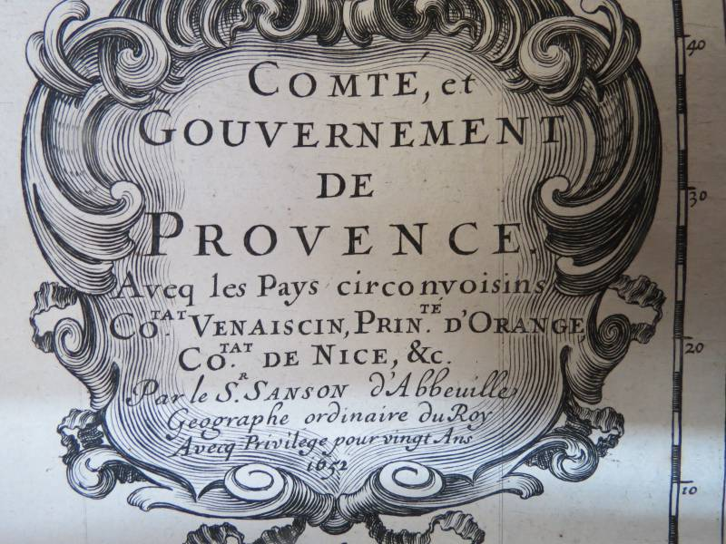 SANSON. COMTE ET GOUVERNEMENT DE PROVENCE. 1652, Histoire – Geographie, Livres | Puces Privées