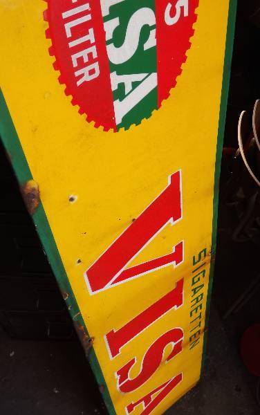 Plaque émaillée Cigarette Visa, Support métal, Publicité | Puces Privées