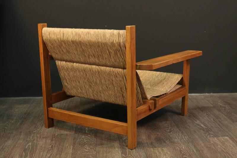 Large Paire de fauteuils attribué a Francis Jourdain 1940, Fauteuils, Sièges | Puces Privées