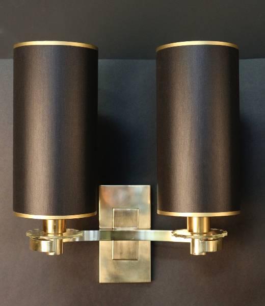 Paire d'appliques des Ateliers Petitot 1940, Appliques, Luminaires | Puces Privées