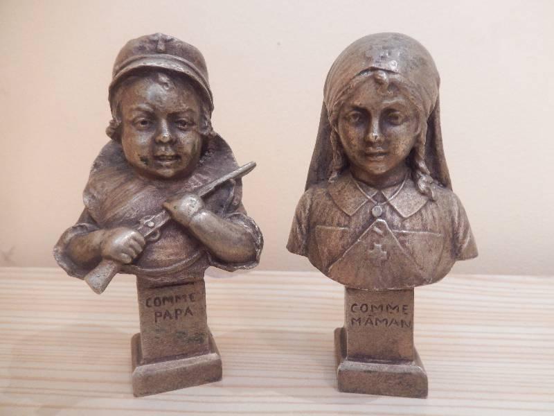 petits bronze  enfant patriotique, Bronze, Métallerie | Puces Privées