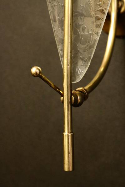 Paire d'appliques en Murano par Stilnovo 1960, Appliques, Luminaires   Puces Privées