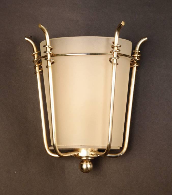 Paire d'appliques  de la Maison Petitot 1940, Appliques, Luminaires | Puces Privées