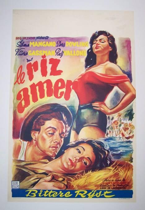 affiche originale Riz amer..entoilée.linen backed., Affiches anciennes (cinéma, theâtre, publicitaire), Image   Puces Privées