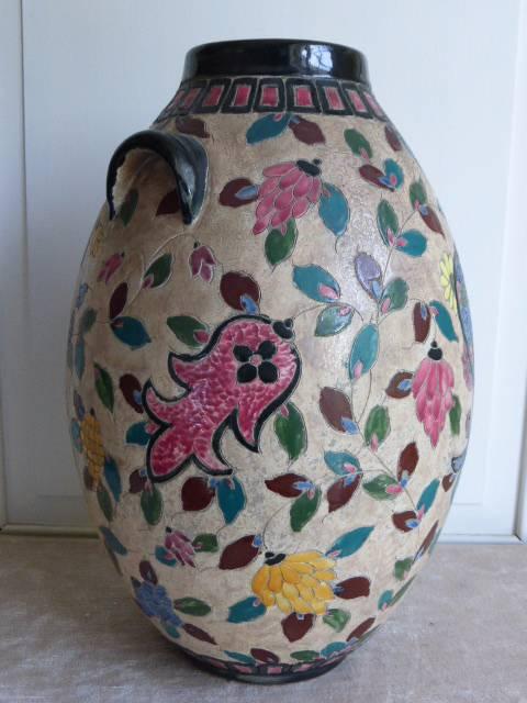 No - 177 -  Grand vase de Jérôme Massier à Vallauris France ., Céramiques, faïence anciennes, Arts décoratifs | Puces Privées