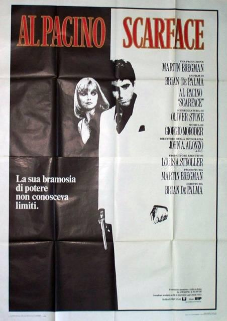 affiche de Scarface Italienne 140x200 cm.originale, Affiches anciennes (cinéma, theâtre, publicitaire), Image | Puces Privées