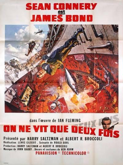 affiche de cinéma originale de 1967.On ne vit que deux fois.120x160 cm.James Bond, Affiches anciennes (cinéma, theâtre, publicitaire), Image | Puces Privées