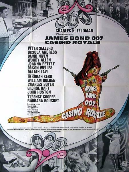 affiche de cinéma originale de 1967.Casino Royale,James Bond.120x160 cm, Affiches anciennes (cinéma, theâtre, publicitaire), Image | Puces Privées
