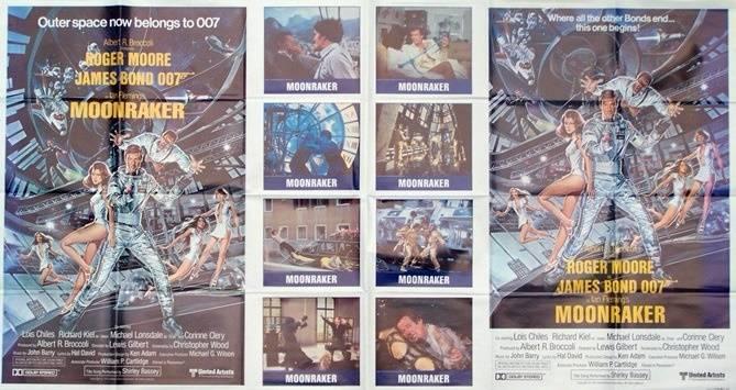 affiche Americaine de cinéma originale de 1979.format très rare.95x195 cm.James Bond, Affiches anciennes (cinéma, theâtre, publicitaire), Image | Puces Privées