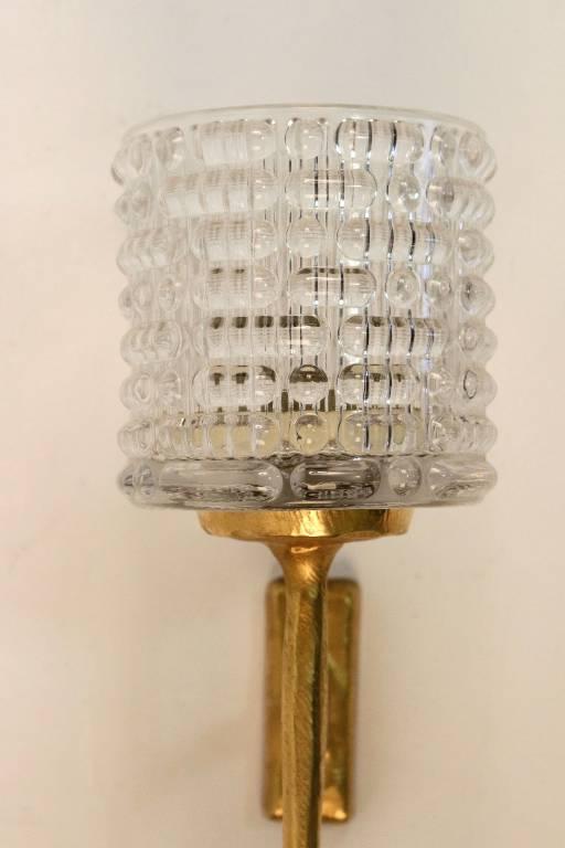 Paire d'appliques en bronze Maison Arlus 1950, Appliques, Luminaires | Puces Privées