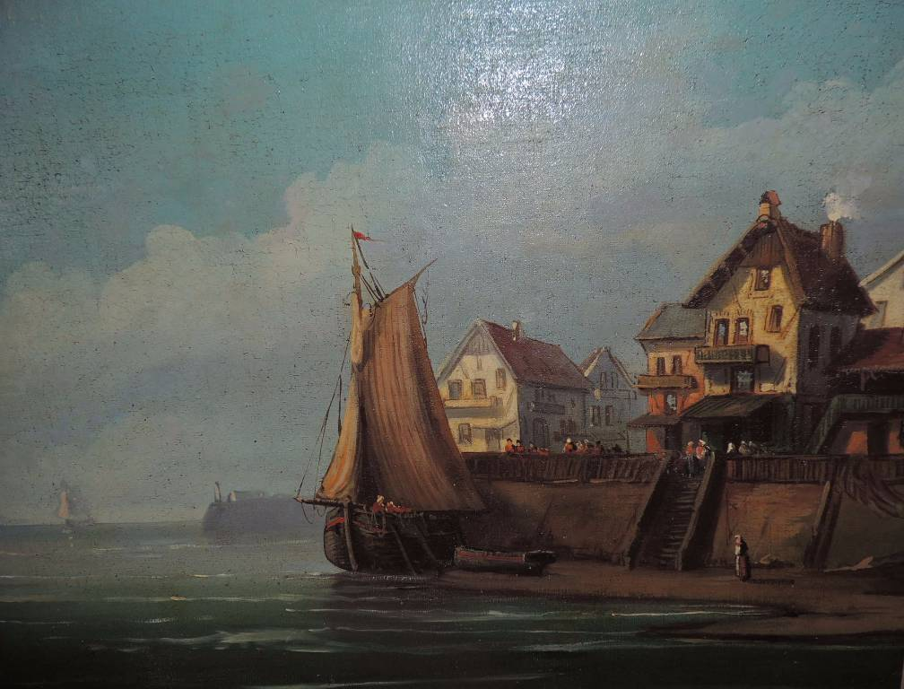 MARINE HUILE SUR TOILE XIXème siècle, XIX, Peinture | Puces Privées