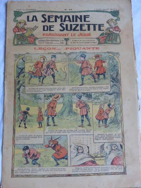 No - 182 -  La Semaine de Suzette  1910 - 1911- 25 numéros, Jeunesse, Livres | Puces Privées